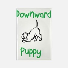downward puppy Rectangle Magnet