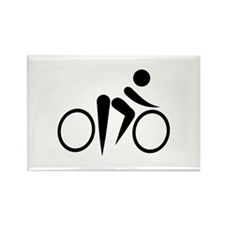 Bicycle Cycling Rectangle Magnet