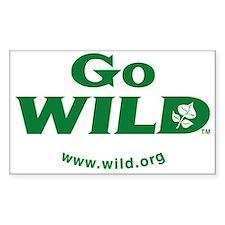 Go WILD logo TM Decal