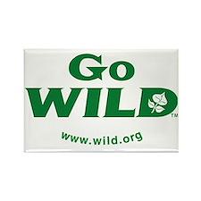 Go WILD logo TM Rectangle Magnet