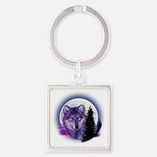 moonwolf Square Keychain