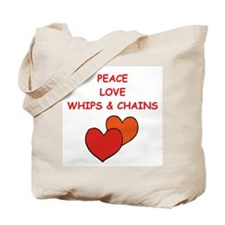 whips and chains Tote Bag
