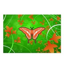 butterfly flying to love c Postcards (Package of 8