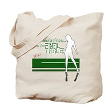 A womans place poker graphic Tote Bag