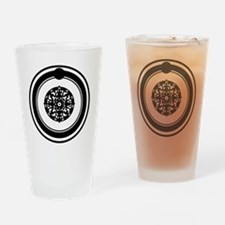 OuroborosSigil-SolidBlack Drinking Glass