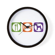 Eat Sleep Airedale Wall Clock
