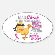 Mad Chick 3L Breast Cancer Decal