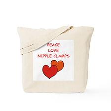 nipple clamps Tote Bag