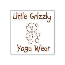 "Grizzly Wear Square Sticker 3"" x 3"""