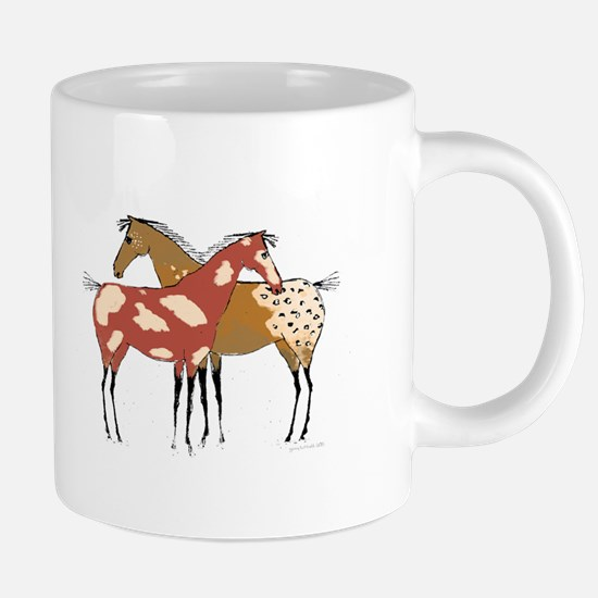 Two Horse Appaloosa & Paint Design Mugs
