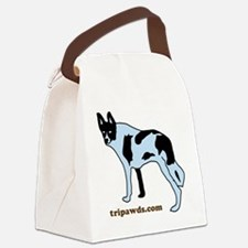Tripawds.com Three Legged Cow Dog Canvas Lunch Bag