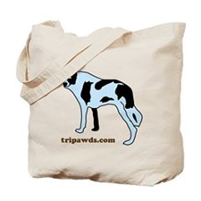 Tripawds.com Three Legged Cow Dog White B Tote Bag