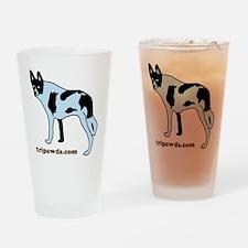 Tripawds.com Three Legged Cow Dog W Drinking Glass