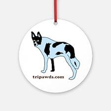 Tripawds.com Three Legged Cow Dog W Round Ornament