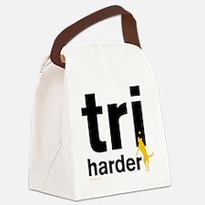Tri Harder Flying Three Legged Do Canvas Lunch Bag