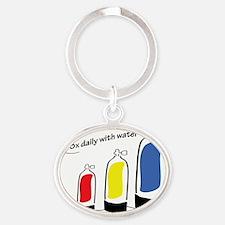 journal-take-3x-daily Oval Keychain