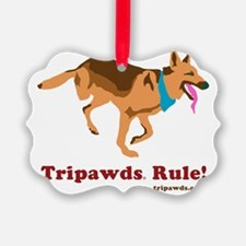 Tripawds Rule Running GSD White B Ornament