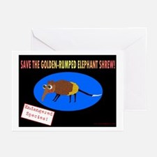 Save the Golden Rumped Elephant Shrew Greeting Ca