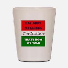 ITALIAN TALK Shot Glass