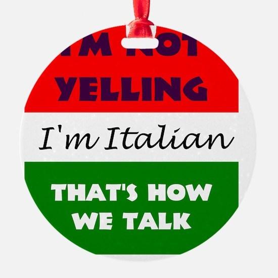 ITALIAN TALK Ornament