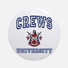 CREWS University Ornament (Round)