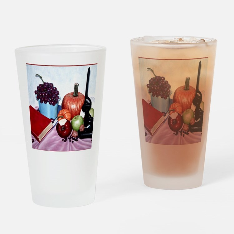 Still Life Bite Border Drinking Glass