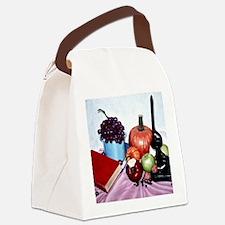 Still Life Bite Border Canvas Lunch Bag