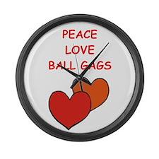 BALL gags Large Wall Clock