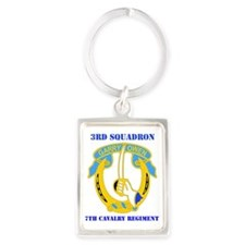 3-7TH CAV RGT WITH TEXT Portrait Keychain