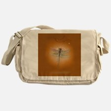 libelluleailesfinescarre Messenger Bag