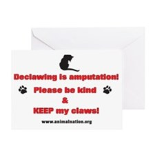 Declawing is Amputation Greeting Card