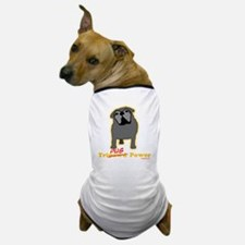 Tripawds Tri-Pug Power Dark BKG Dog T-Shirt