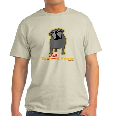 Tripawds Tri-Pug Power Dark BKG Light T-Shirt