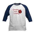 Grandpa's Little Lovebug Kids Baseball Jersey