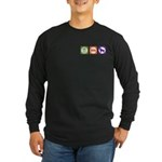 Eat Sleep Shepherd Long Sleeve Dark T-Shirt