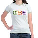 Eat Sleep Shepherd Jr. Ringer T-Shirt