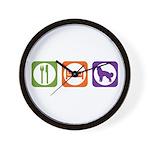 Eat Sleep Shepherd Wall Clock