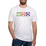 Eat Sleep Shepherd Fitted T-Shirt