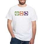 Eat Sleep Shepherd White T-Shirt