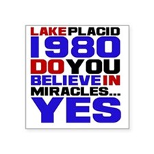 "miracle on ice Square Sticker 3"" x 3"""