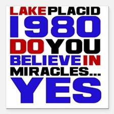 """miracle on ice Square Car Magnet 3"""" x 3"""""""