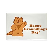 Groundhog's Day! Rectangle Magnet
