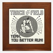 Track and Field Framed Tile