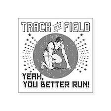 "Track and Field Square Sticker 3"" x 3"""