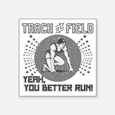 "Track and Field Square Sticker 3"" x 3"""