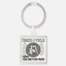 Track and Field Square Keychain
