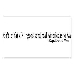Faux Klingons Rectangle Decal