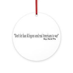 Faux Klingons Ornament (Round)