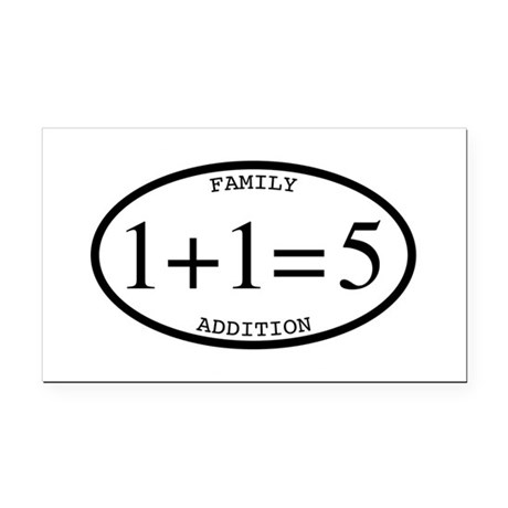 Family Addition Oval 5 Rectangle Car Magnet