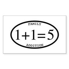 Family Addition Oval 5 Decal